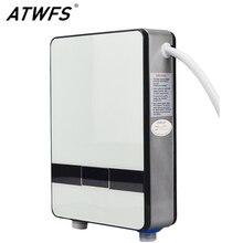 Atwfs wysokiej jakości błyskawiczne bezzbiornikowego podgrzewacz wody 6500 w 220 v termostatem nagrzewnica indukcyjna smart touch elektryczne grzejniki prysznicowe