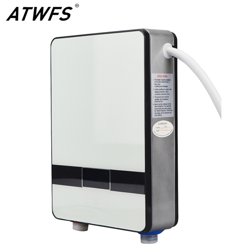 atwfs high quality instant tankless water heater 6500w 220v thermostat induction heater smart touch electric shower heaters - Electric Tankless Water Heater Reviews