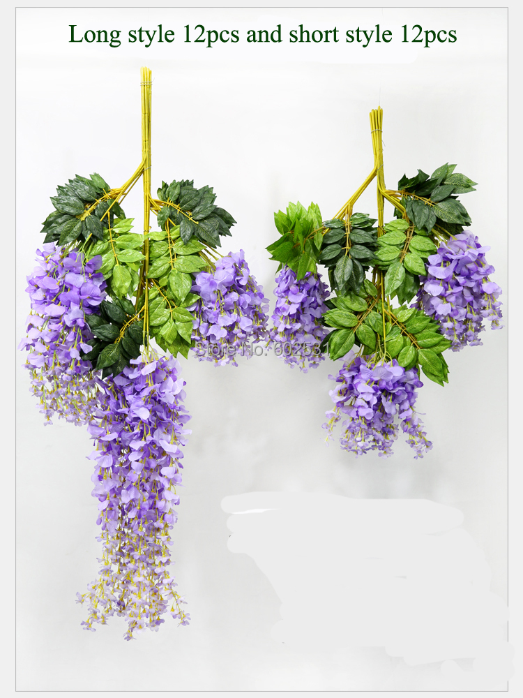 F shipping high quality 75cm 4 colors artificial silk flowers f shipping high quality 75cm 4 colors artificial silk flowers wisteria vine rattan wedding violet bean string curd decoration mightylinksfo