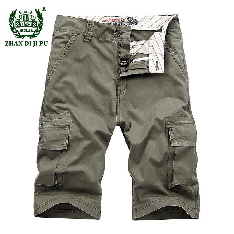 Large Size 30 44 Summer 2018 men military casual brand 100% cotton afs jeep army green shorts man khaki cargo work blue trousers