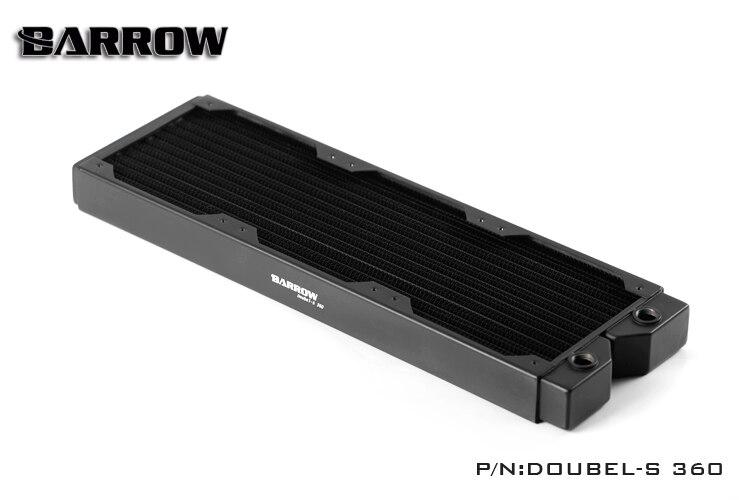 Brouette Double-S360 double-s série 360mm haute-densité double-vague de cuivre refroidisseur d'eau pour 12 cm fans
