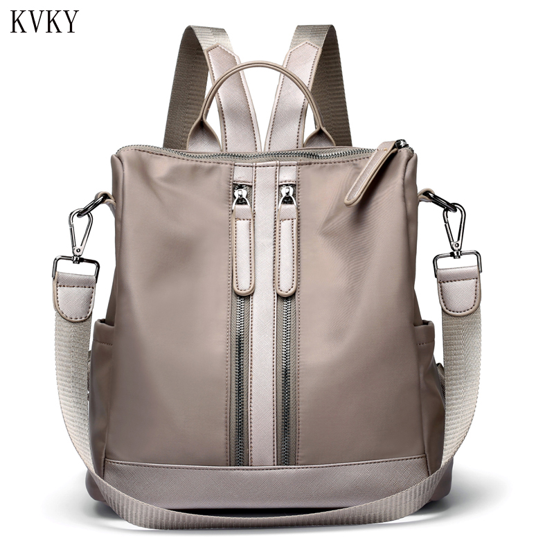 Fashion Women Backpacks For Teenage Girls High Quality Shoulder Bag Female Nylon Zipper Bags Preppy Style Casual 2018