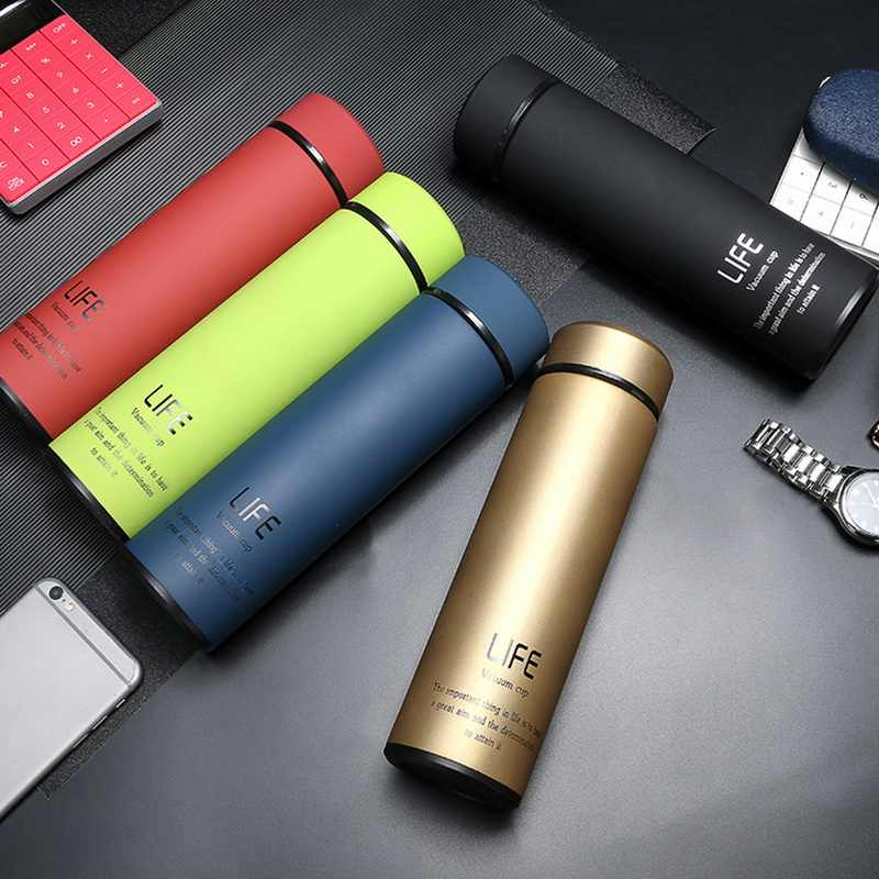 IVYSHION 500ML Home Thermos Tea Vacuum Flask With Filter Stainless Steel 304 Thermal Cup Coffee Mug Water Bottle Office Business