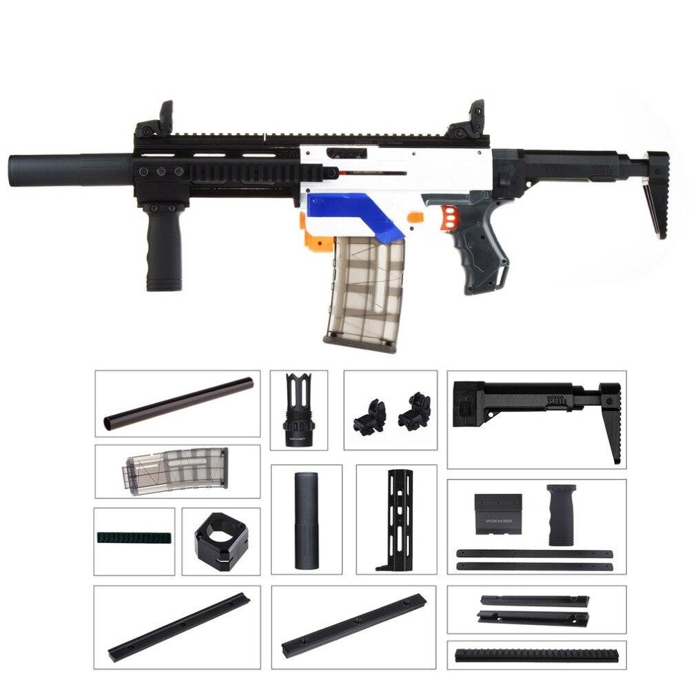 цена WORKER Lightweight 3D Printing Modularized Mod F10555 Pump Kit Barrel Jaket Combo 11 Items for Nerf Retaliator DIY Toys Parts