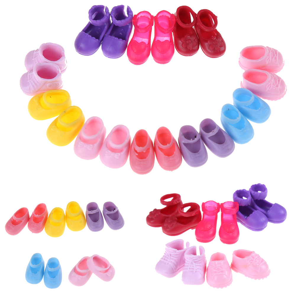 5 Pairs Fashion Shoes Doll Shoes For Dolls Outfit Dress Little Girls Gift For Little Girl Accessories Random Best Sell