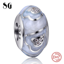 Silver Galaxy Love Heart with Dog Paw Beads For Women Fit Authentic pandora Bracelet Charms 925 Original Jewelry gifts