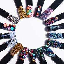 цены T-TIAO CLUB Chameleon AB Beads Nail Art Decoration Acrylic Irregular Drop Shape Flat Battom DIY 3D Nail Art Tips Manicure tools