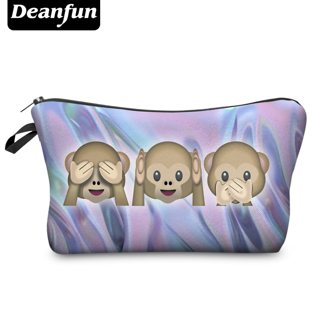 Deanfun 3D Printing Travel Cosmetic Bag  Hot-selling Women Brand Small H65 deanfun travel cosmetic bag 2016 hot selling women brand small makeup case 3d printing christmas gift water pig h46