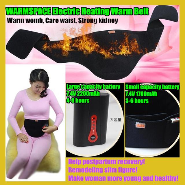 WARMSPACE Calefacción Eléctrica Caliente Faja Cinturón Faja, Ayudar Posparto Rrecovery, Conformación Delgada, Vientre Cálido, Cuidado de La Cintura, fuerte del riñón
