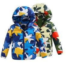 Продвижение Новый 2016 зимней Моды Дети Мальчики Куртки Пальто Для 5-8 Детей Хлопка пальто Верхняя Одежда