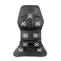 Car Home Office Full Body Massage Cushion Heat Vibrate Mattress Back Neck Massage Chair Massage Relaxation