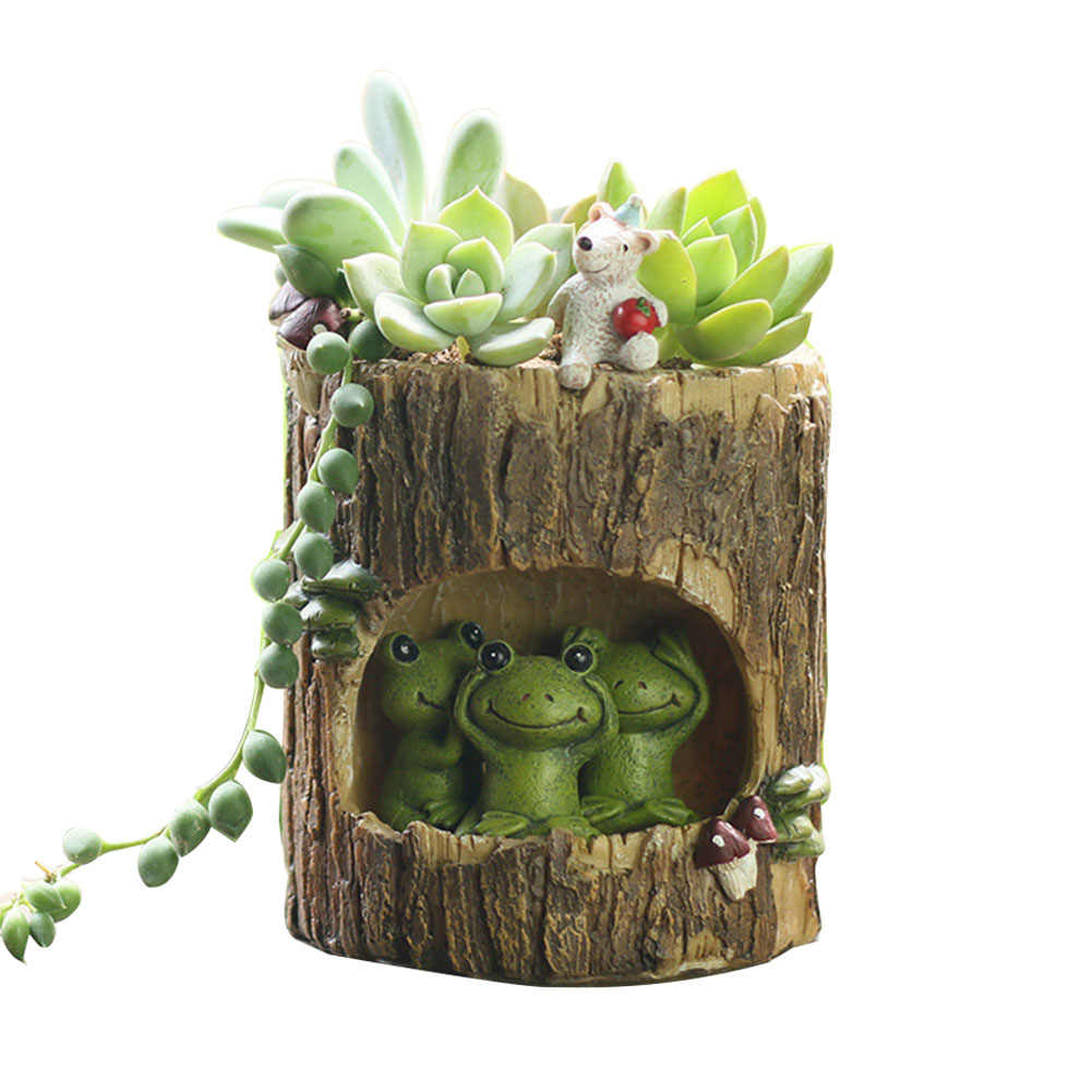 Decoration Aeration Gift Succulent Mini Garden Desktop Home Pastoral Room Office Plant Pot Hole Flower
