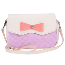 VSEN Fashion Women Leather Handbags Bowknot Fashion CrossBody Shoulder Bags Messenger Bags Women Bags(Pink)