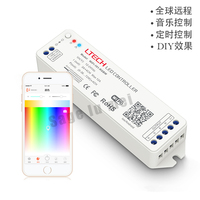LTECH DC12V 24V 2 4G MINI WIFI RGBW Controller IOS Android APP WiFi RGBW Led Controller