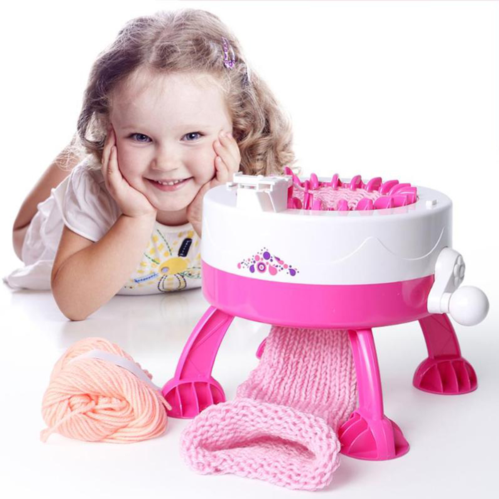 DIY Hand Scraf Hat Knitting Machine Plastic Needle Position Big Weaving Loom Knit Children Educational Learning Toy Dropshiping