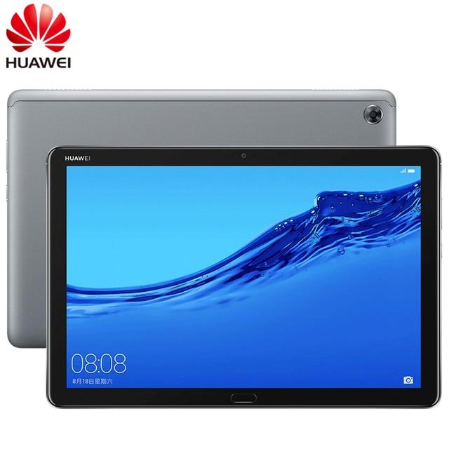 "Global ROM HUAWEI MediaPad M5 Lite 10.1 ""Android 8.0 OCTA Core 4GB 64GB/128GB ROM Type C 1920*1200 IPSแท็บเล็ตพีซี"