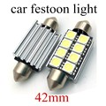 best selling 10 pieces White Car led f-estoon 42MM 5050 8SMD Light Dome Interior LED Light bulb Lamp Auto led