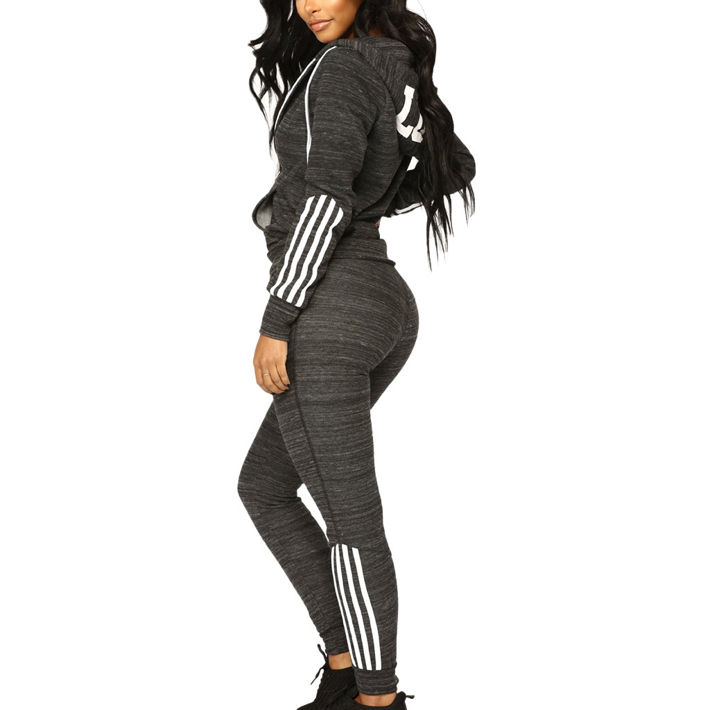 JAYCOSIN Women Set Clothes Two Piece Set Long Sleeve Pullove Sport Tops And Long Pants Tracksuit For Women Spring And Winter