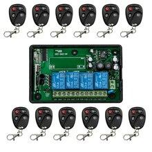 85 v ~ 250 V 110 V 220 V 230 V 4CH RF Control Remoto Inalámbrico Sistema de Seguridad Interruptor de La Luz Puertas de garaje, Puertas eléctricas