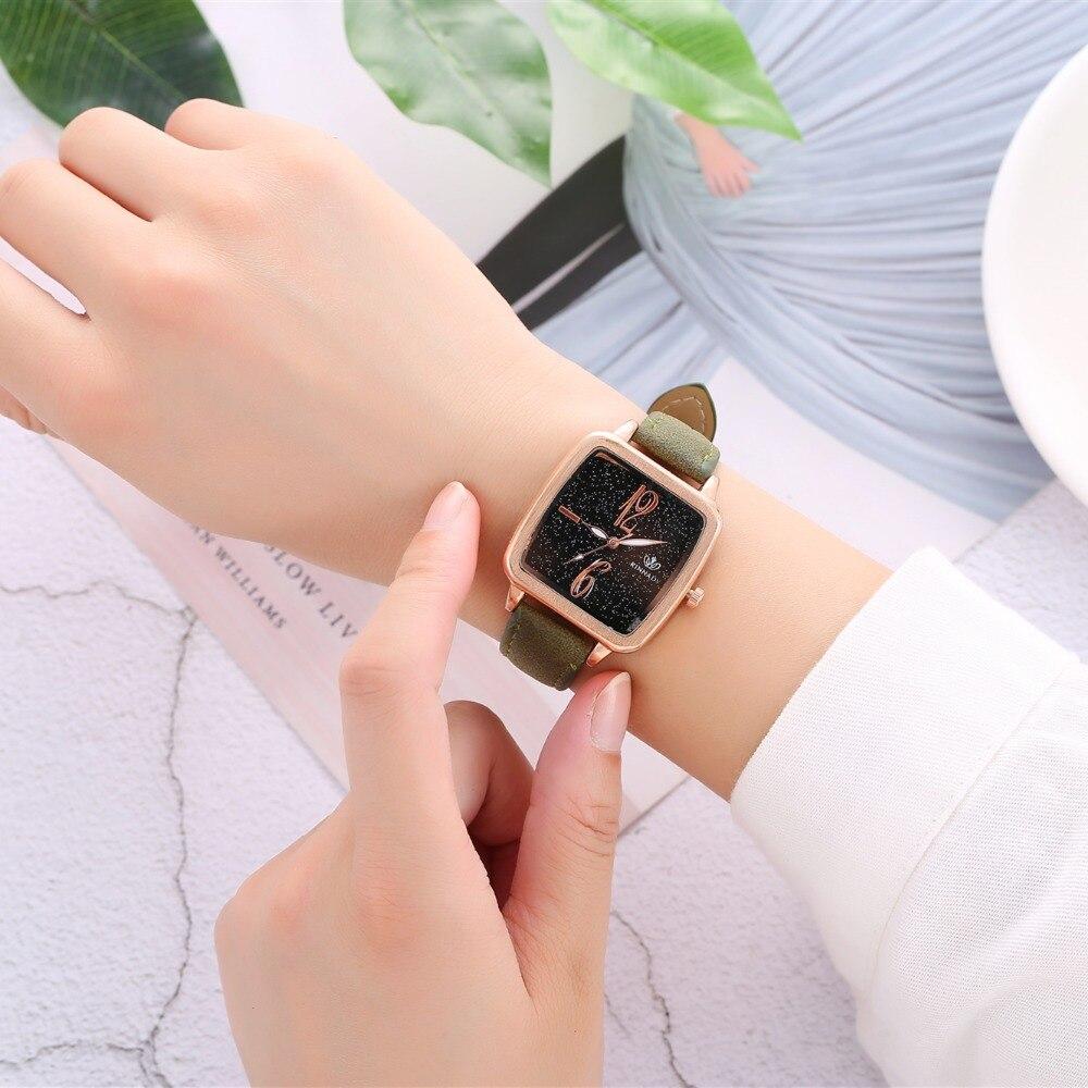 2018 New Fashion Brand Rose Gold Leather Watches Women Ladies Casual Dress Quartz Wristwatch Reloj Mujer Relogio Zegarek Damski