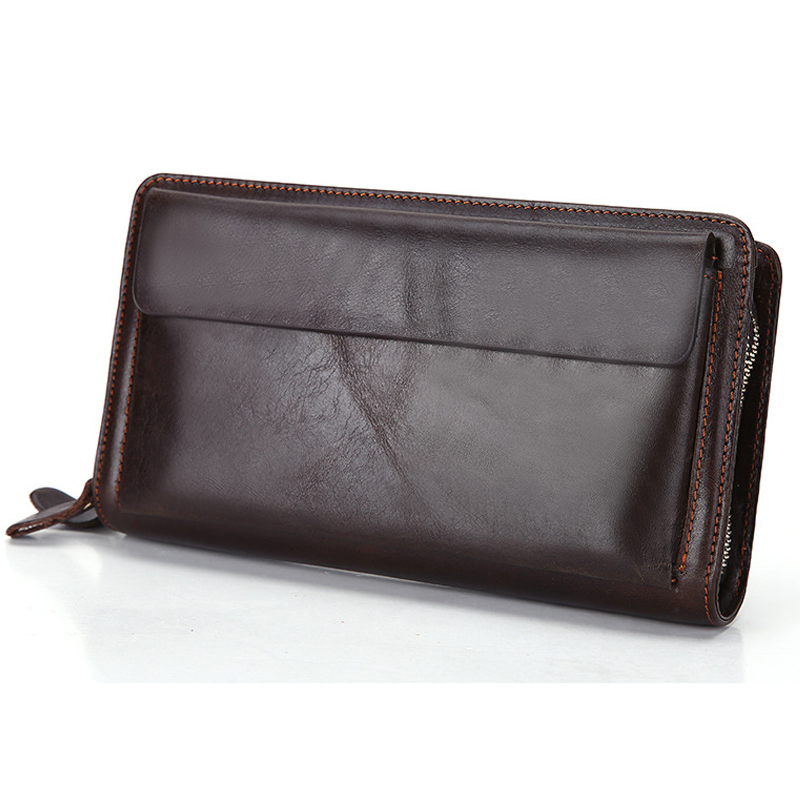 Men Wallet Cowhide Genuine Leather Purse Money Clutch Business Card Holders Coin Double Zip Long Phone High Quality 2017 Wallets bvp luxury brand weave plain top grain cowhide leather designer daily men long wallets purse money organizer j50
