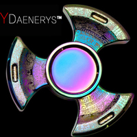 2017 New Mayans Design Fidget Spinner Colorful Tri Hand Spinner Metal Finger Gyro Toys Anti Stress