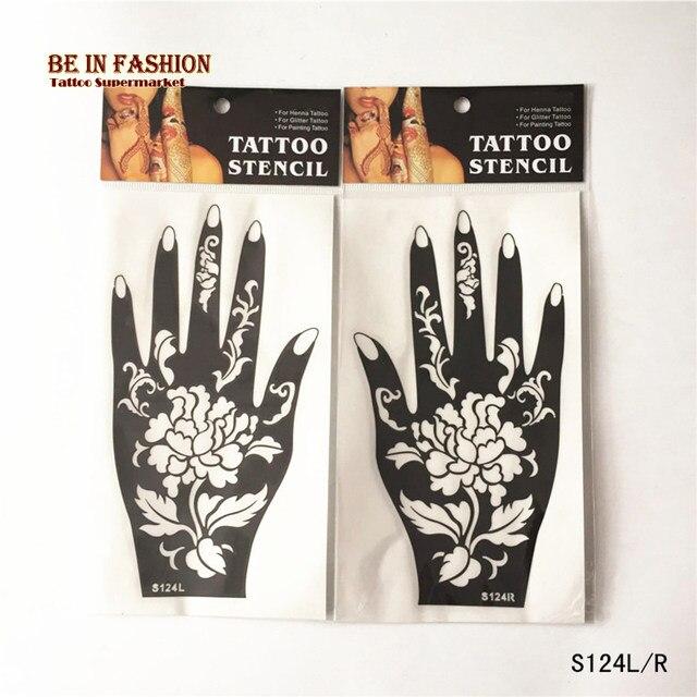 Online Shop 1 Pair Henna Tattoo Stensil Airbrush Stensil Glitter