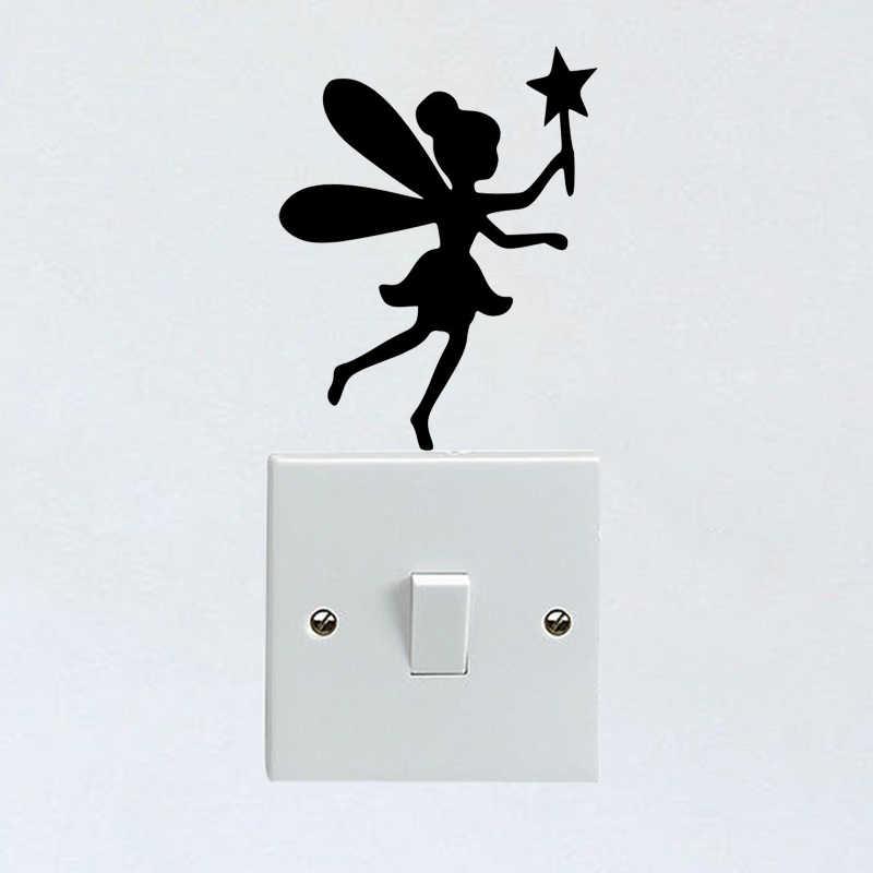 Fairy Swing Vinyl Decal Sticker Light Switch Girls Laptop Home Decor