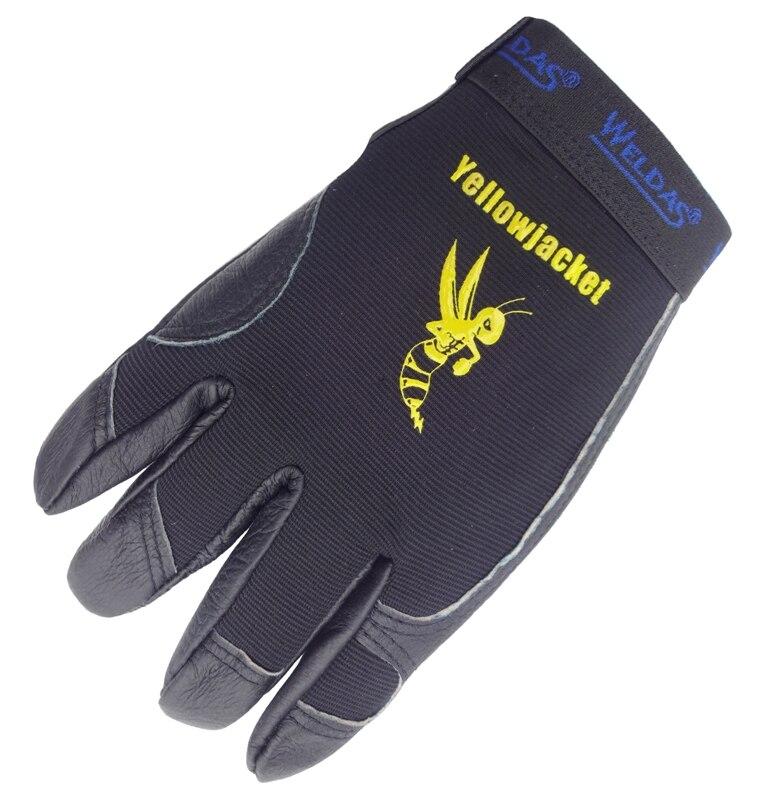 7edaa9cc9b De cuero maquinista guante de grano de piel de cerdo de conductor de cuero  guante de seguridad guantes de trabajo de cuero