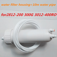 Water filter behuizing + 10 m 1/4 water slang aansluiting voor omgekeerde osmose ro water filter buis quick verbinding|filter housing|water filter housingwater connection -