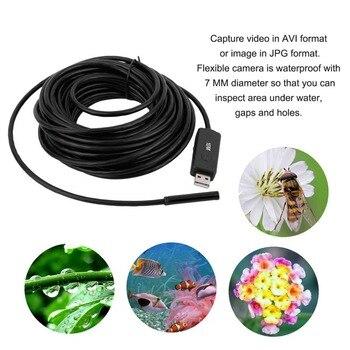 7 мм USB эндоскоп 10 м Мини камера OTG бороскоп осмотр змеиная трубка Водонепроницаемая Камера Безопасности электронный цифровой для ПК >> Security Online Store