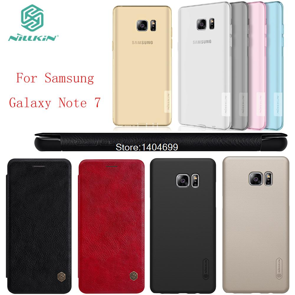 sFor Samsung Galaxy Note 7 Case Nillkin Hard Soft Flip Cover PC PU TPU Case For Samsung Galaxy Note 7