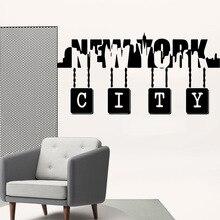 Lovely new york city Decorative Sticker Waterproof Home Decor Children House Art Decals