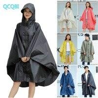 Fashion Big Cap Hooded Rain Coat Women Outdoor rain jacket Waterproof Long Impermeable Rain Poncho Cloak for Hiking Climbing Cyc