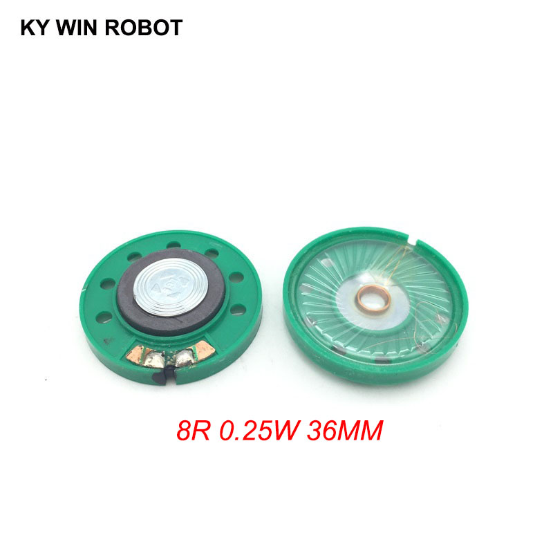2pcs/lot New Ultra-thin Speaker Doorbell Horn Toy-car Horn 8 Ohms 0.5 Watt 0.5W 8R Speaker Diameter 36MM 3.6CM Thickness 7MM