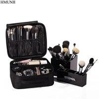 HMUNII Brand Women Cosmetic Bag High Quality Travel Cosmetic Organizer Zipper Portable Makeup Bag Designers Trunk