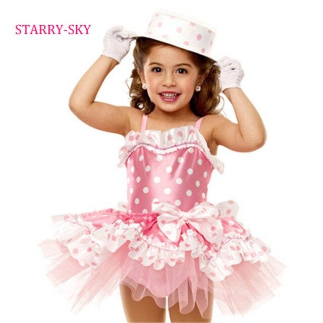 0aa91a798 New Ballet Dress For Girls Children Dance Costumes Cute Dot Pink ...