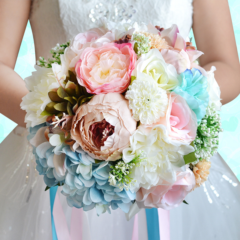 Bridal Bridesmaid Bouquet Holding Flowers Wedding Photography Props