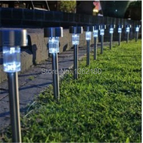 5 pcs Solar Powered LED Lamp Landscape Garden Light Stainless Fadeless Color garden decoration outdoor hallway lamp free shiping