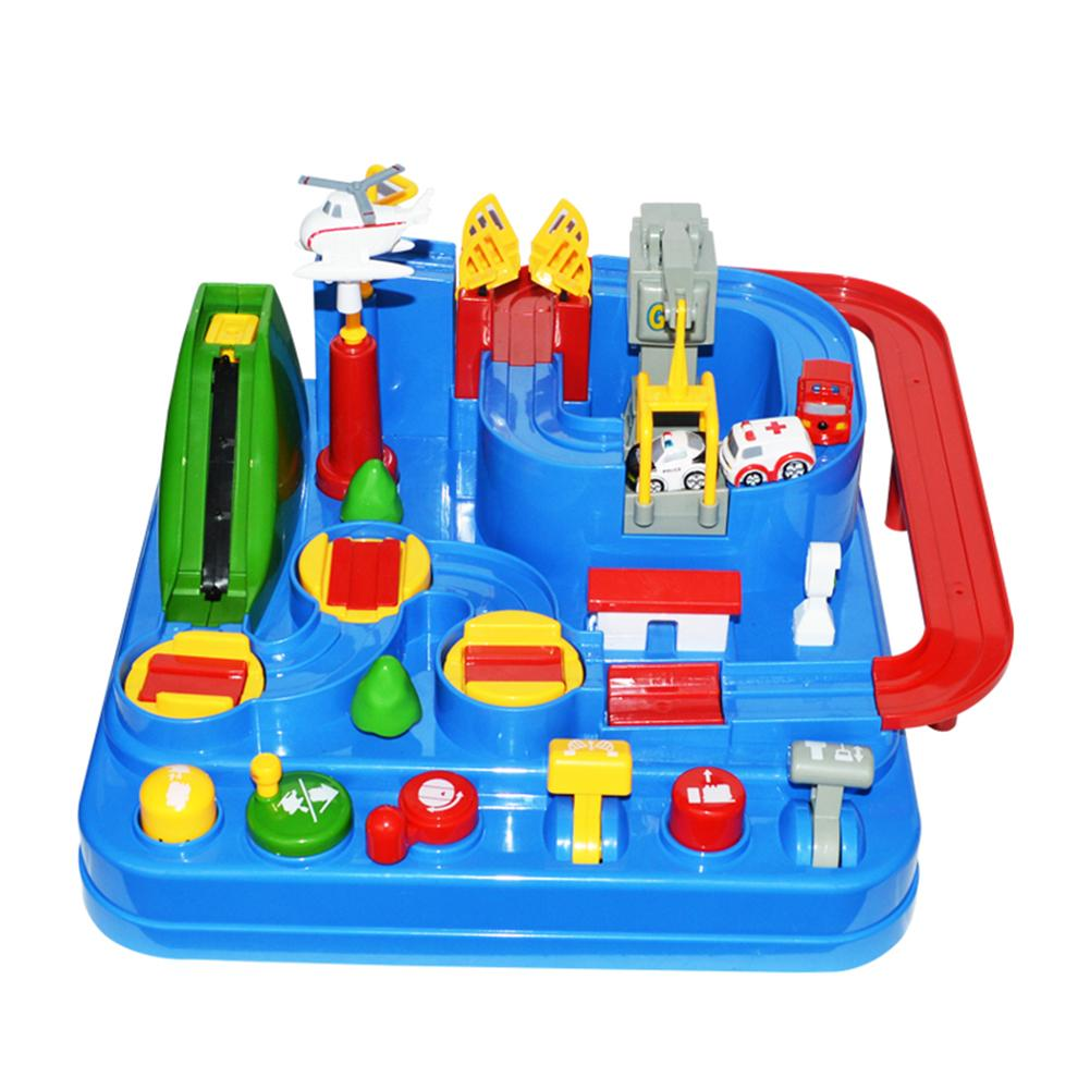 Manual Mechanical Track Car Adventure Educational Toy For
