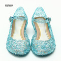Koovan Children Sandals 2017 Summer Kids Children's Shoes Girls Sandal Fashion Crystal Sequins Heel Plastic Wedges Princess