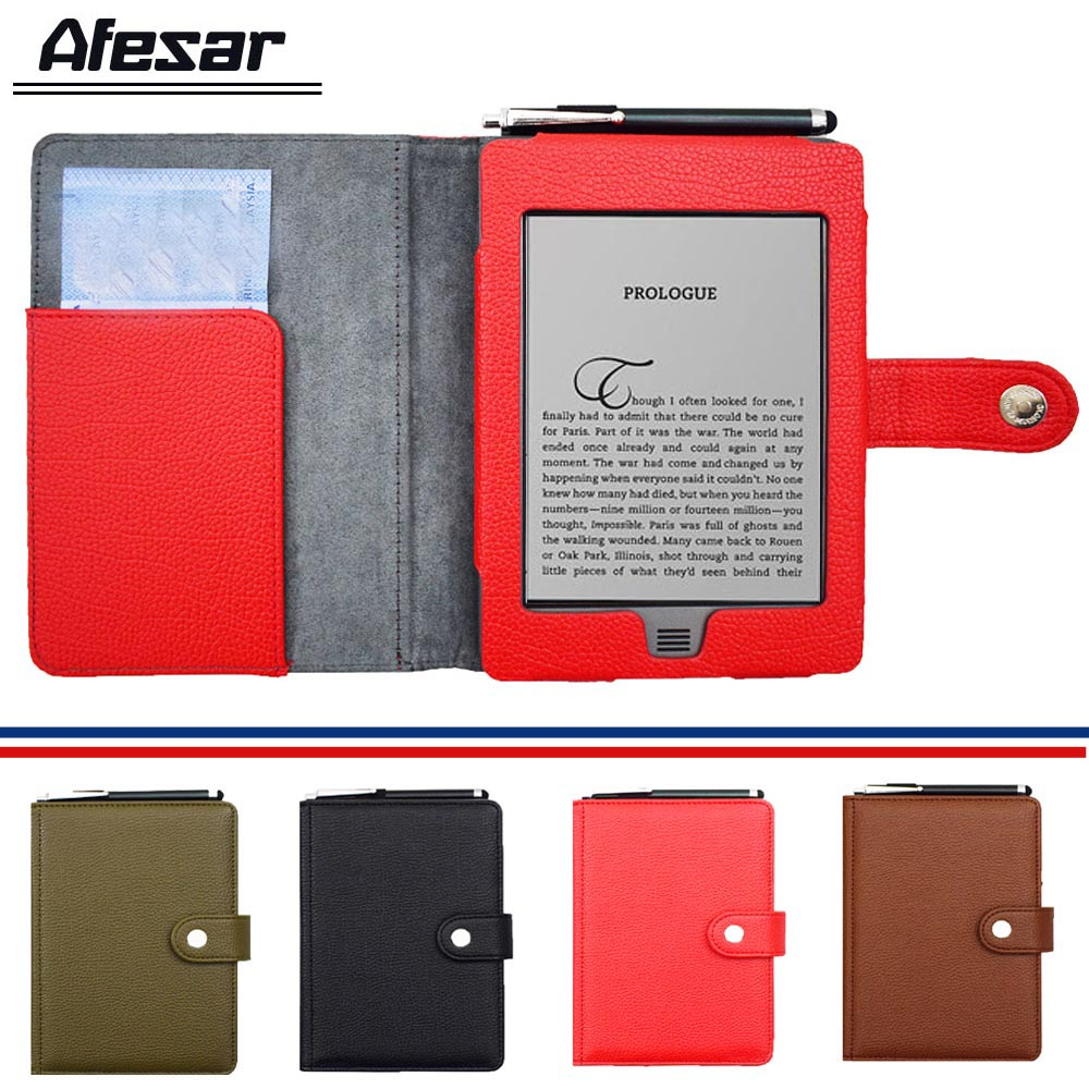 Folio Flip Book Cover Case for Capa Amazon 2011 2012 ebook eReader Magnetic Closured Pouch Case with s pen