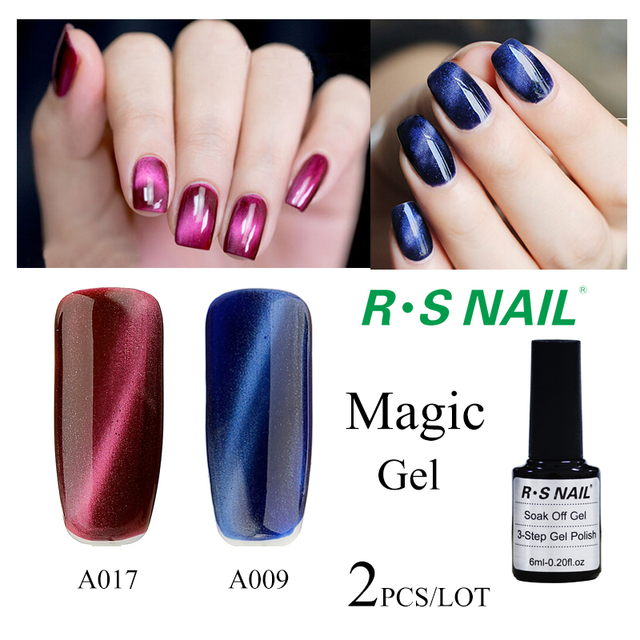 RS 2016 new arrival 2 pieces/lot uv gel nail polish magnet for nail ...