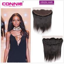 Brazilian Virgin Hair Lace Frontal Closure 8A Straight 13*4 Full Lace Frontal Closure Bleached Knots Straight Frontal Closure