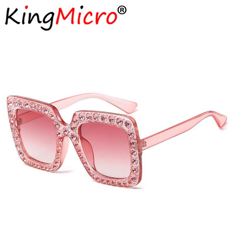 612b206a27aa Diamond Oversized Square Sunglasses Women Vintage Large Frame Ladies Retro  Crystal Sun Glasses Big Bling Gemstone UV400-in Sunglasses from Apparel ...
