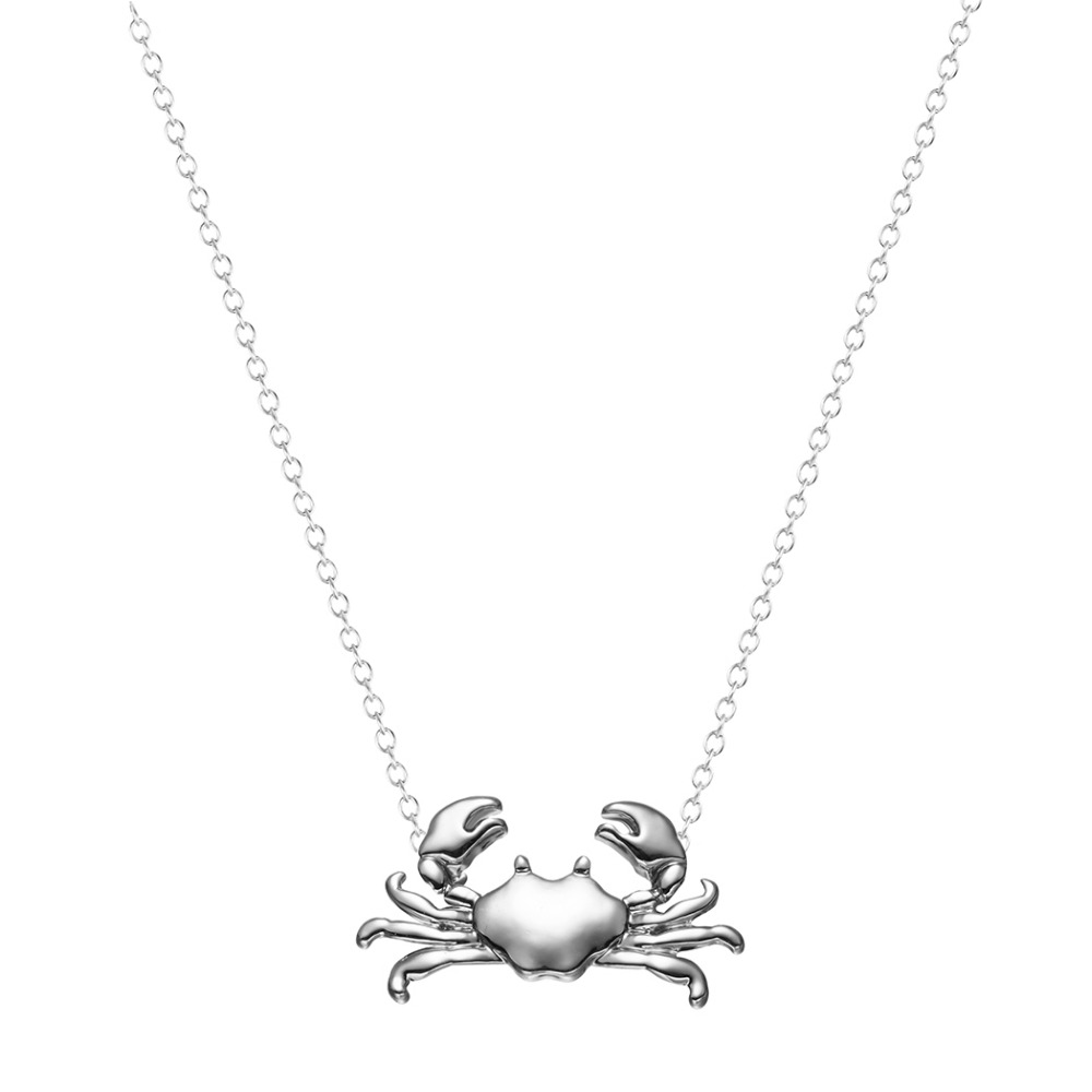 Kinitial 10pcs silver gold cute maryland crab pendant necklace kinitial 10pcs silver gold cute maryland crab pendant necklace cancer zodiac necklace pendant horoscope sign on 16 chain in pendant necklaces from aloadofball Image collections