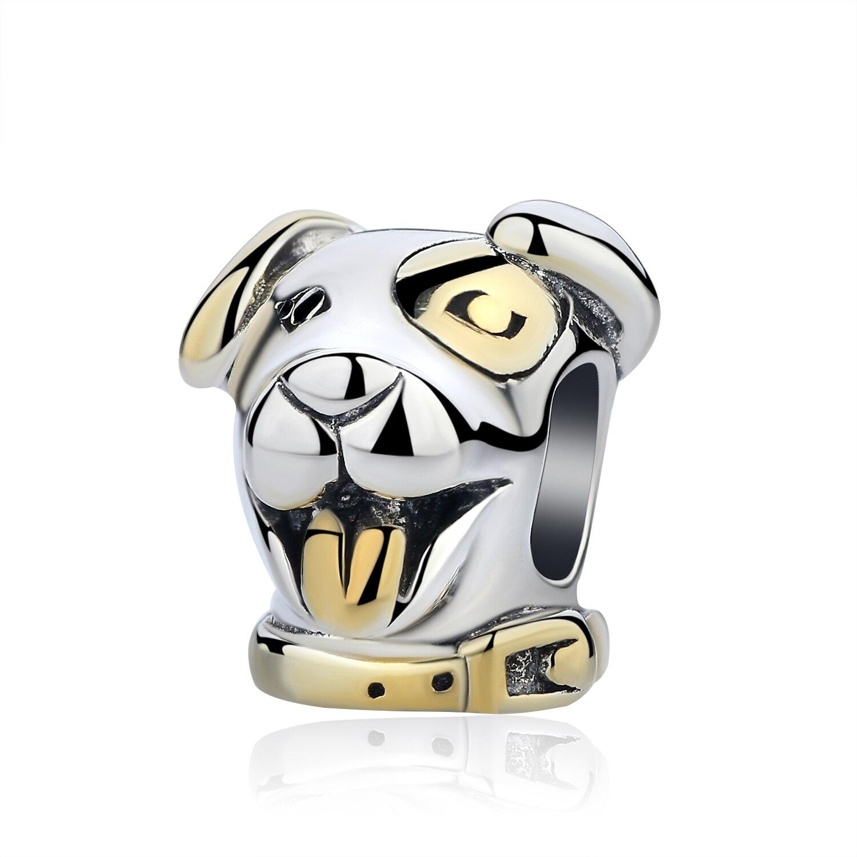 Аутентичные бусины из стерлингового серебра 925 милые отпечатки собачьих лап кошка сова животное Шарм подходят оригинальные Пандора браслеты амулеты «сделай сам» ювелирные изделия - Цвет: 1