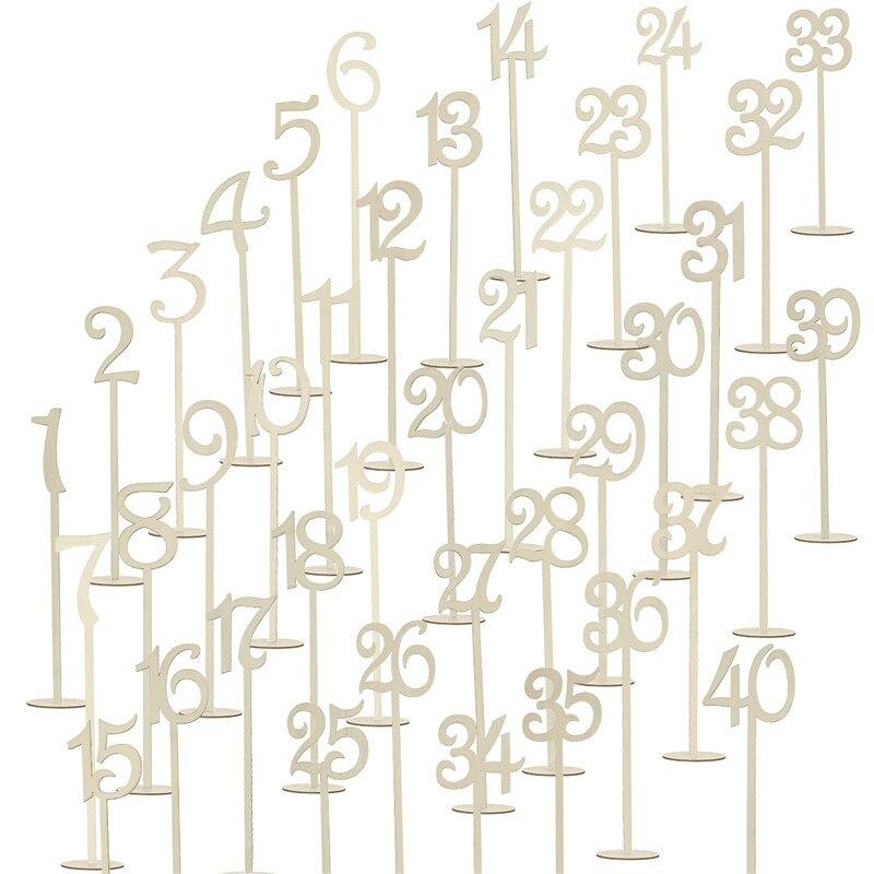 Numeri Da Tavolo FAI DA TE Wodden Con Supporto Di Base Per La Cerimonia  Nuziale O La Decorazione Domestica (Color Legno) In Numeri Da Tavolo FAI DA  TE ...