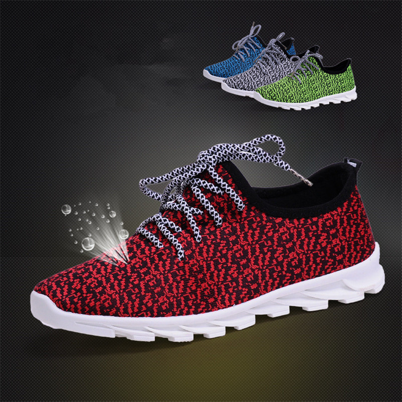 New Men & Women Casual Shoes Fashion Breathable Shoes Grey Black Lacing Flat Shoes Big Size  35-44