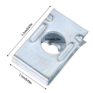 Image 2 - 50 個車ユニバーサルスピードファスナー U ナットセルフタッピングねじ尖塔クリップ内装トリムパネル J113